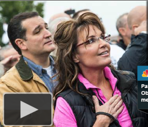 Ted Cruz and Sarah Palin at shutdown rally: Prophets in their own minds?