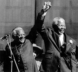 Mandela with Archbishop Desmond Tutu