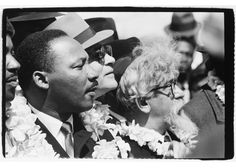 Martin Luther King and Abraham Joshua Heschel (with Dr. Ralph Bunche in between), marching from Selma to Montgomery